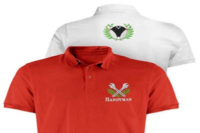 Embroidery for Embroidered work shirts no minimum order